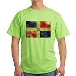 Dominican Republic Flag Green T-Shirt