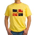 Dominican Republic Flag Yellow T-Shirt