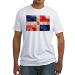 Dominican Republic Flag Fitted T-Shirt