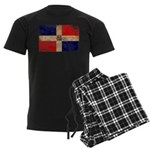 Dominican Republic Flag Men's Dark Pajamas