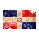 Dominican Republic Flag 38.5 x 24.5 Wall Peel