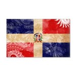 Dominican Republic Flag 22x14 Wall Peel