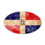 Dominican Republic Flag 38.5 x 24.5 Oval Wall Peel