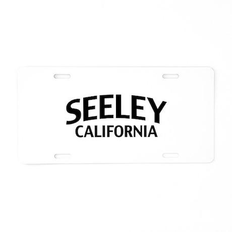 Seeley California Aluminum License Plate