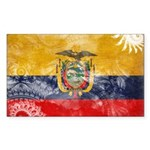 Ecuador Flag Sticker (Rectangle 50 pk)