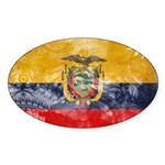 Ecuador Flag Sticker (Oval 10 pk)
