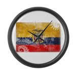 Ecuador Flag Large Wall Clock