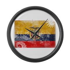 Ecuador Flag Large Wall Clock