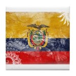 Ecuador Flag Tile Coaster
