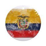 Ecuador Flag Ornament (Round)
