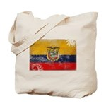 Ecuador Flag Tote Bag