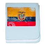 Ecuador Flag baby blanket