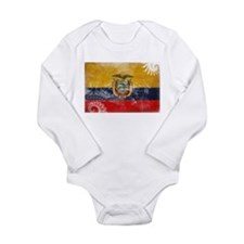 Ecuador Flag Long Sleeve Infant Bodysuit