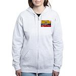 Ecuador Flag Women's Zip Hoodie