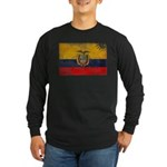 Ecuador Flag Long Sleeve Dark T-Shirt