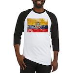 Ecuador Flag Baseball Jersey