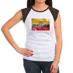 Ecuador Flag Women's Cap Sleeve T-Shirt