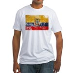 Ecuador Flag Fitted T-Shirt