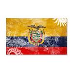 Ecuador Flag 22x14 Wall Peel