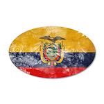 Ecuador Flag 38.5 x 24.5 Oval Wall Peel