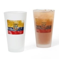 Ecuador Flag Drinking Glass