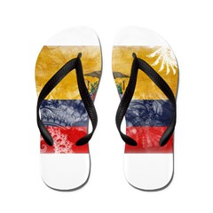 Ecuador Flag Flip Flops