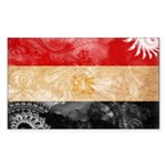 Egypt Flag Sticker (Rectangle)