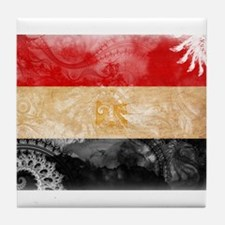 Egypt Flag Tile Coaster