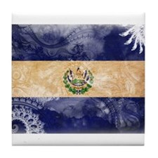El Salvador Flag Tile Coaster