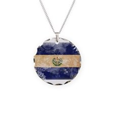 El Salvador Flag Necklace