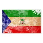 Equatorial Guinea Flag Sticker (Rectangle 10 pk)