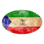 Equatorial Guinea Flag Sticker (Oval 10 pk)