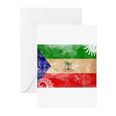 Equatorial Guinea Flag Greeting Cards (Pk of 20)