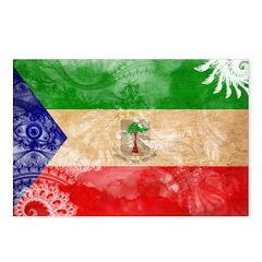 Equatorial Guinea Flag Postcards (Package of 8)