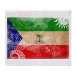 Equatorial Guinea Flag Throw Blanket