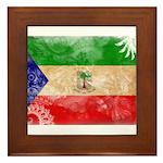 Equatorial Guinea Flag Framed Tile