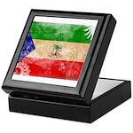 Equatorial Guinea Flag Keepsake Box