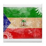 Equatorial Guinea Flag Tile Coaster