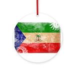 Equatorial Guinea Flag Ornament (Round)