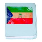 Equatorial Guinea Flag baby blanket