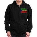 Equatorial Guinea Flag Zip Hoodie (dark)