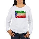 Equatorial Guinea Flag Women's Long Sleeve T-Shirt