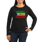Equatorial Guinea Flag Women's Long Sleeve Dark T-