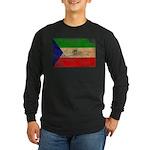 Equatorial Guinea Flag Long Sleeve Dark T-Shirt