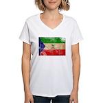 Equatorial Guinea Flag Women's V-Neck T-Shirt