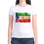Equatorial Guinea Flag Jr. Ringer T-Shirt