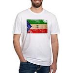 Equatorial Guinea Flag Fitted T-Shirt
