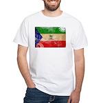 Equatorial Guinea Flag White T-Shirt