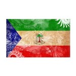 Equatorial Guinea Flag 38.5 x 24.5 Wall Peel