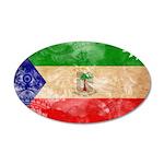 Equatorial Guinea Flag 38.5 x 24.5 Oval Wall Peel